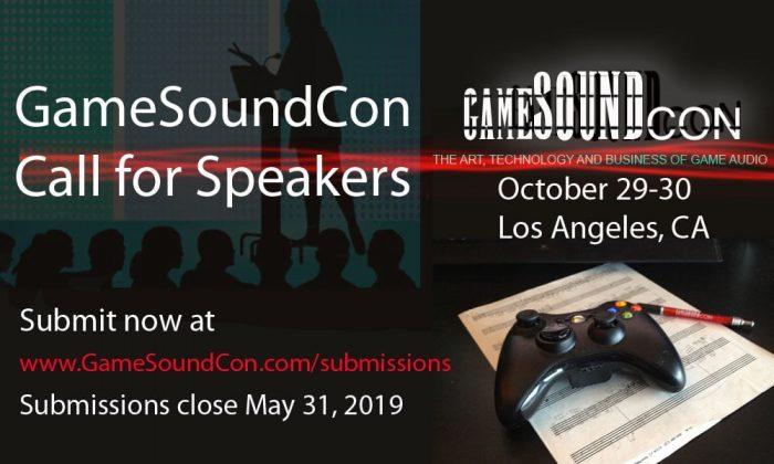 GameSoundCon Speakers Open Call