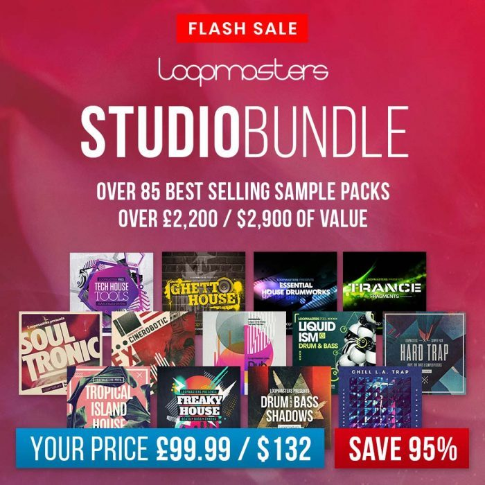 Loopmasters Studio Bundle offers 86 sound packs for only £99