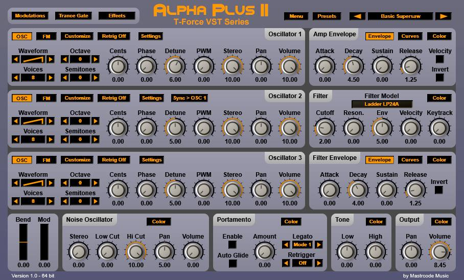 Mastrcode Music releases T-Force Alpha Plus 2 free synthesizer