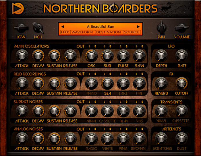 SampleScience Northern Boarders GUI