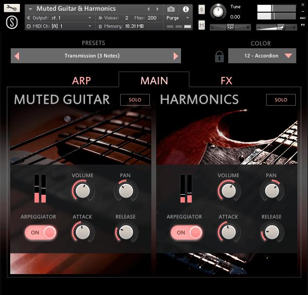 Sonuscore Muted Guitar & Harmonics