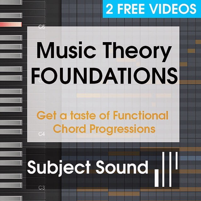 Subject Sound Music Theory Foundations
