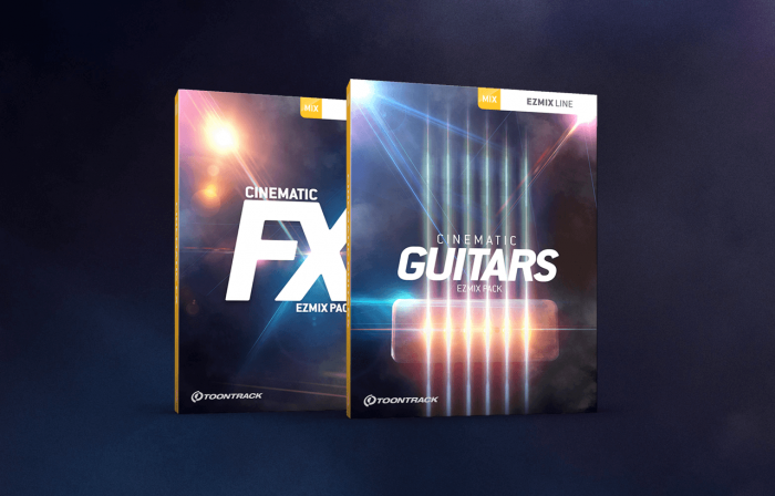 Toontrack Cinematic Guitars & Cinematic FX for EZmix 2