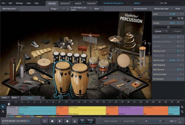 Toontrack Orchestral Percussion SDX GUI 02