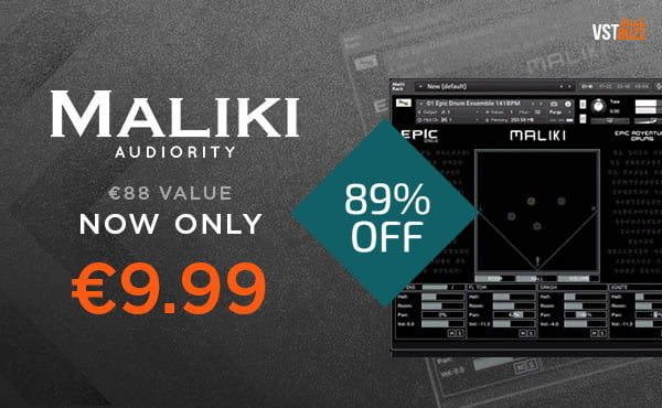 Get 89% off Maliki epic drum loops library by Audiority at