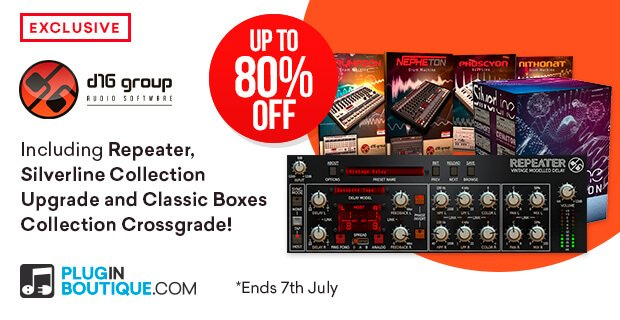 Save up to 80% on D16's Repeater delay and Silverline