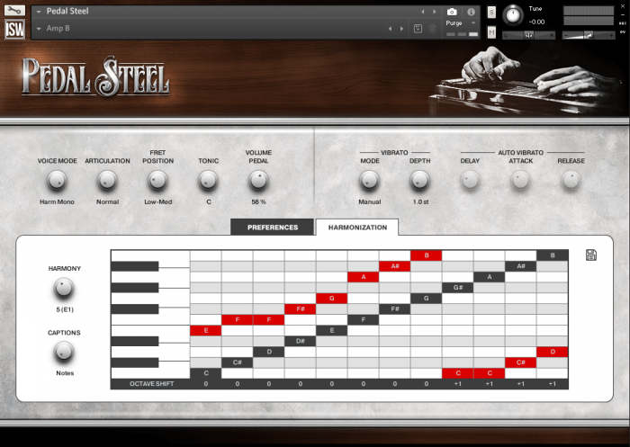 Impact Soundworks Pedal Steel harmonization