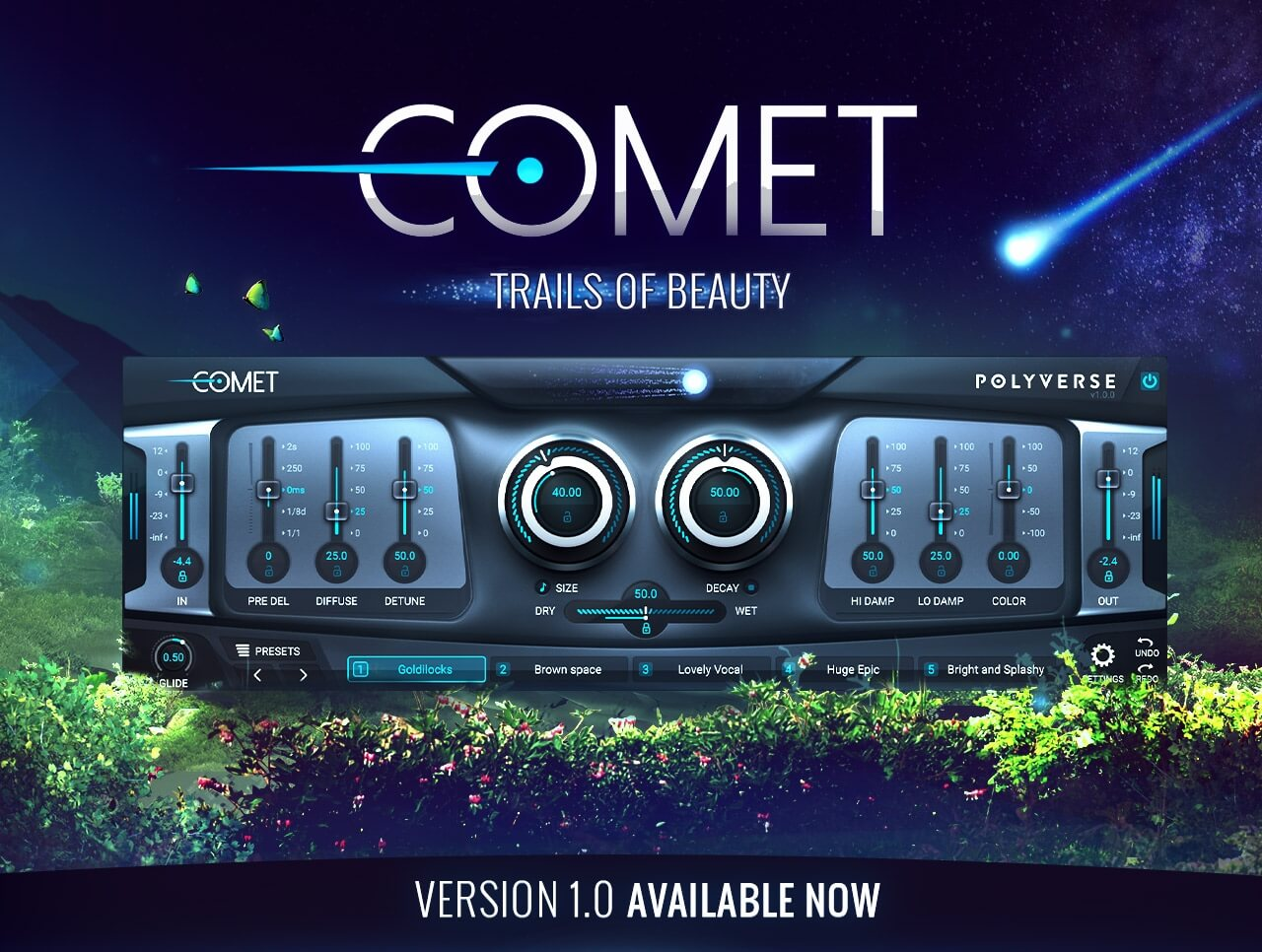 Polyverse Music celebrates Comet 1 0 reverb with 33% OFF all