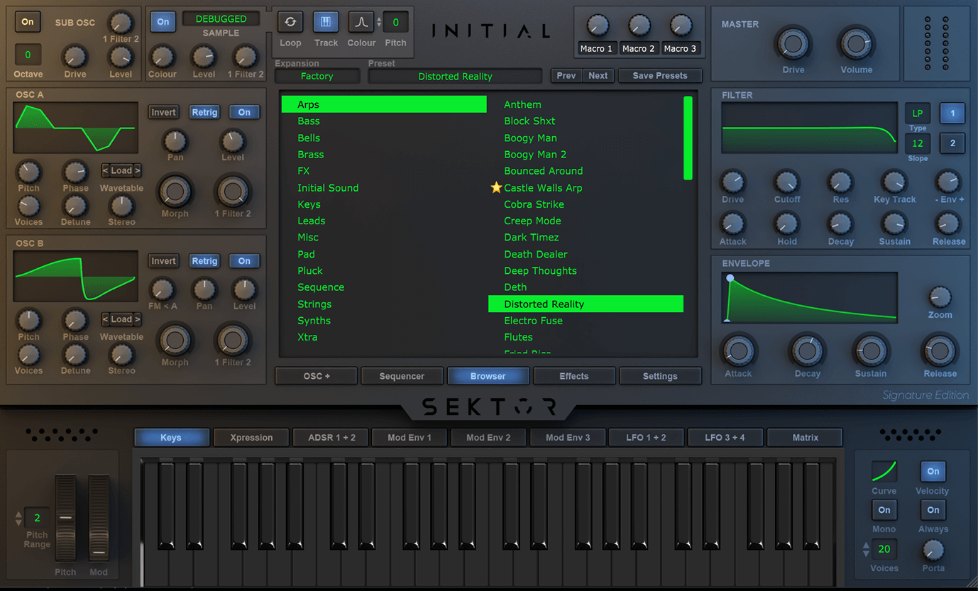 Initial Audio updates Sektor wavetable synthesizer to v1 3 Beta