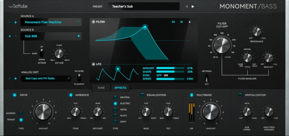 Softube launches Monoment Bass virtual instrument for mix