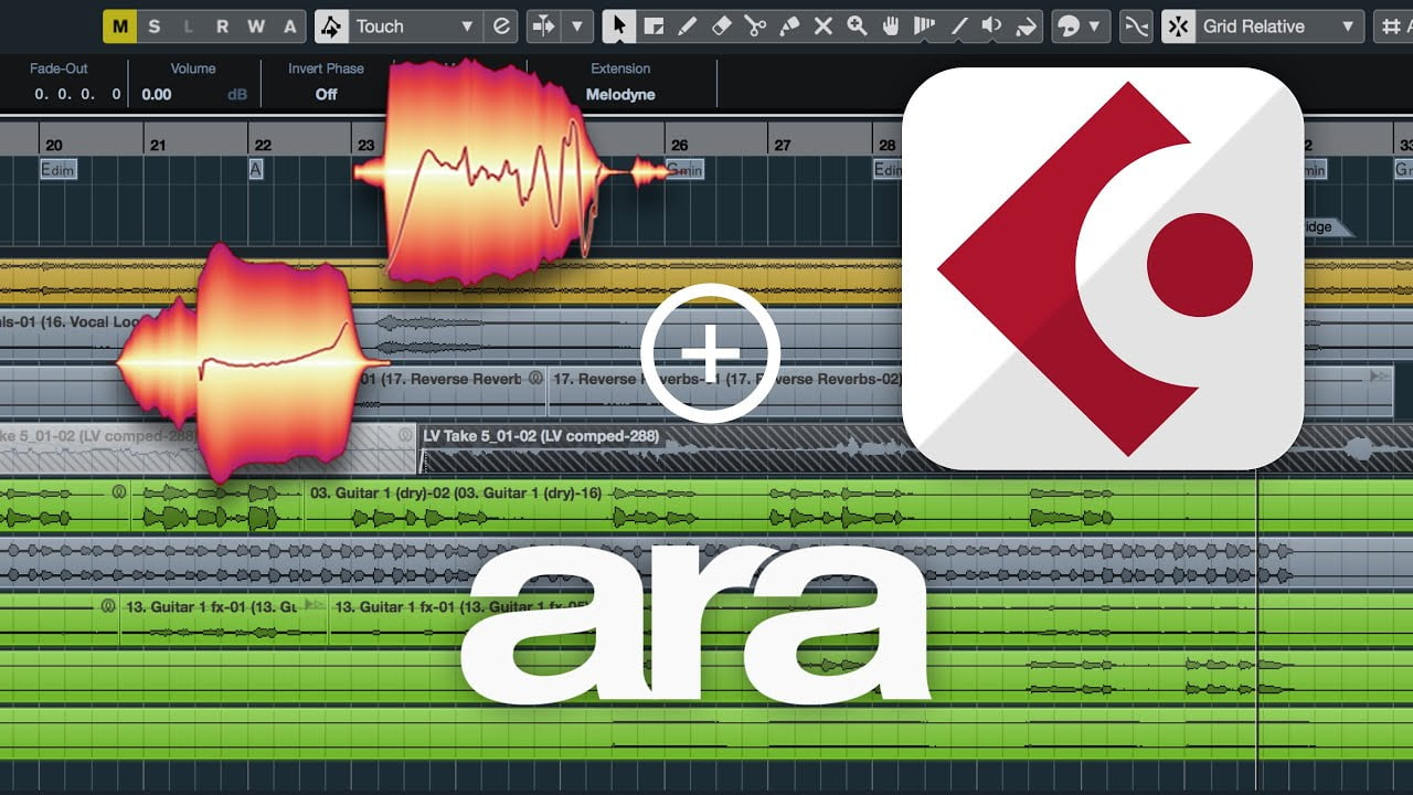 Cubase and Nuendo integrate basic support for the ARA2 interface