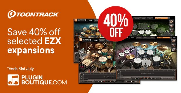 Toontrack EZX Summer Sale 40% OFF