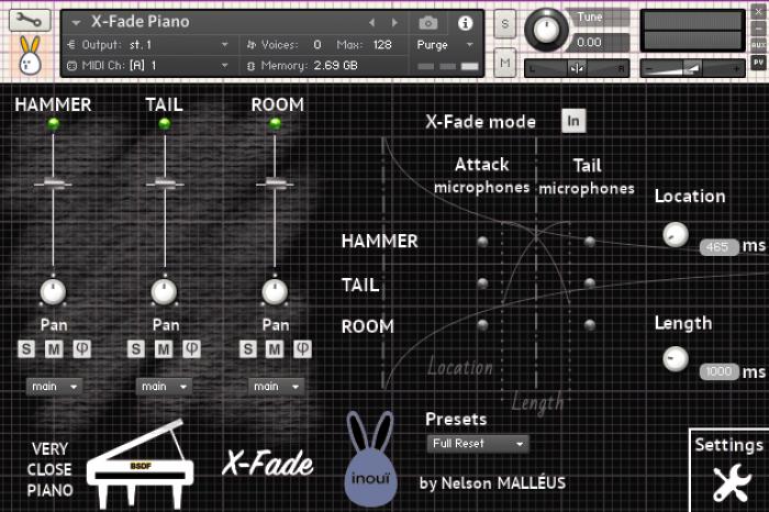 Very Close Piano 2 X Fade Dark