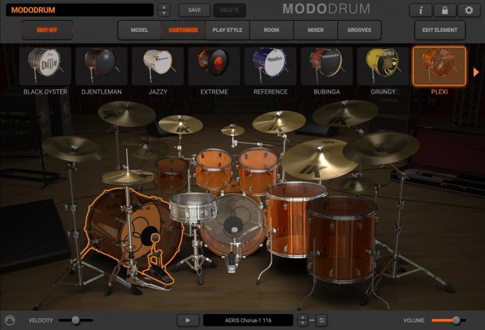 modo drum customize edit kit plexi