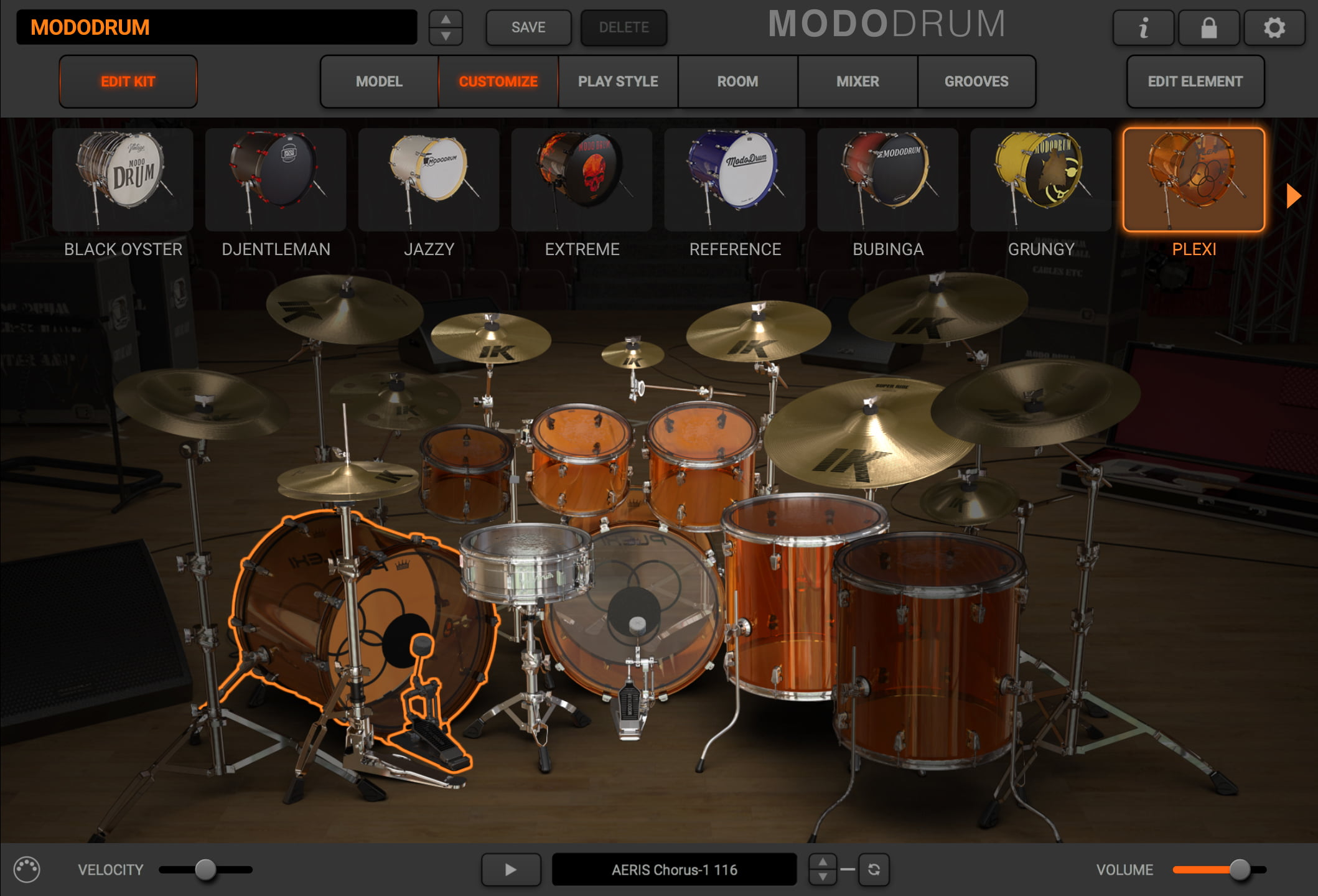 IK Multimedia's Modo Drum physical modelling drum virtual instrument
