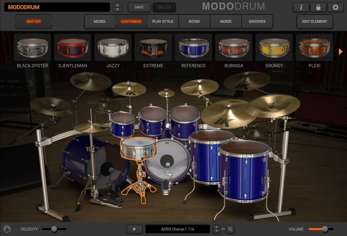 modo drum customize edit kit reference