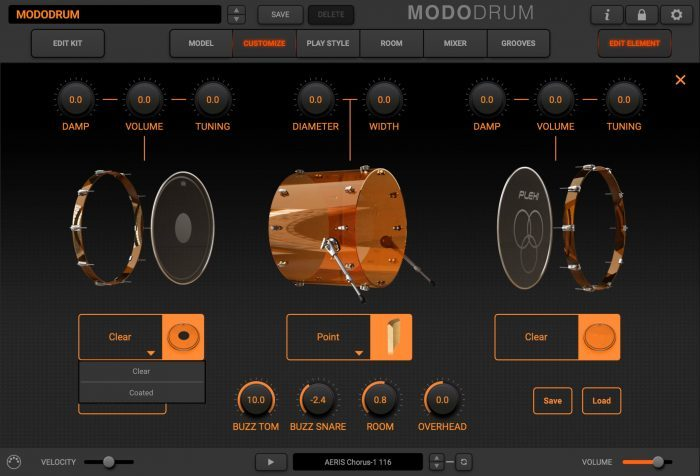modo drum customize kick plexi