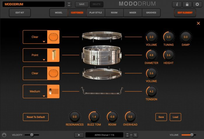 modo drum customize snare refence