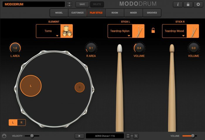 modo drum play style toms