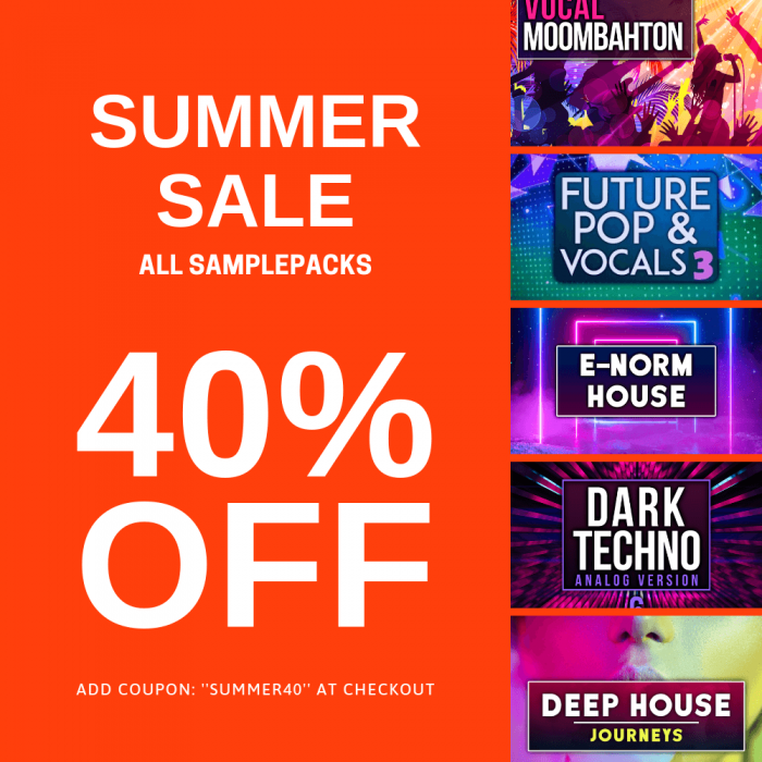 Audentity Records Summer Sale 40% OFF