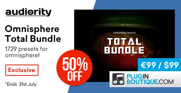 Audiority Omnisphere Total Bundle on sale, 1700+ presets for $99 USD