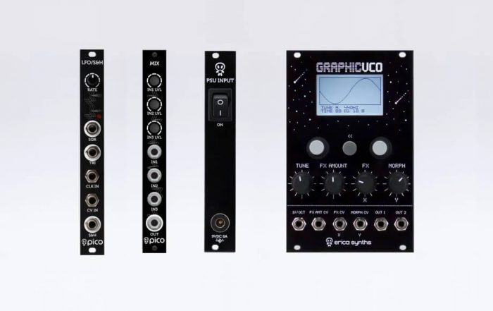 Erica Synths new Eurorack modules & Graphic VCO firmware