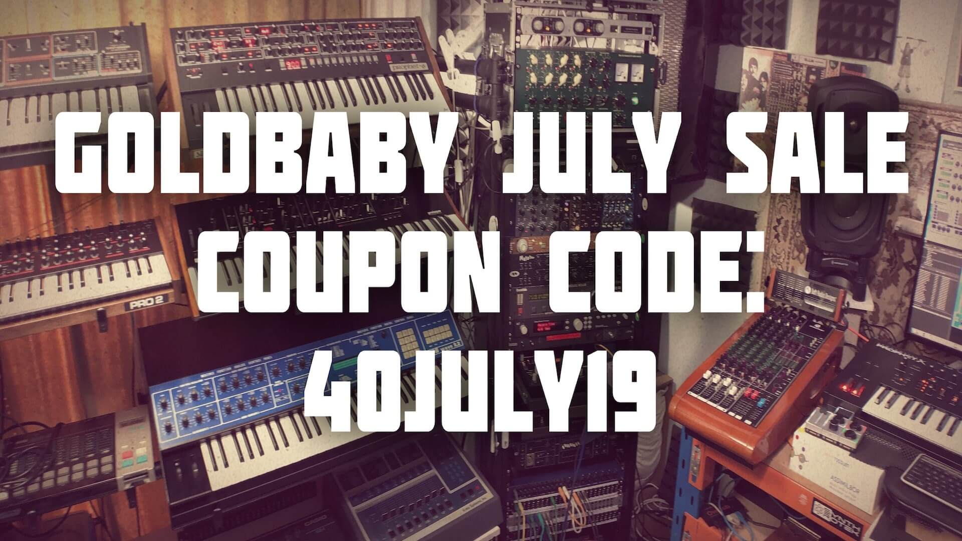 goldbaby july sale get 40 off vintage drum machine synth sample packs. Black Bedroom Furniture Sets. Home Design Ideas