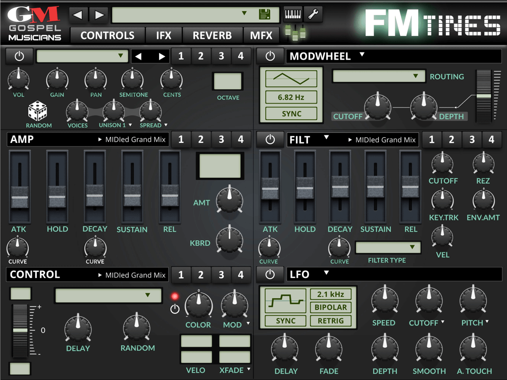 Gospel Musicians releases FM TiNES electric piano for iPad