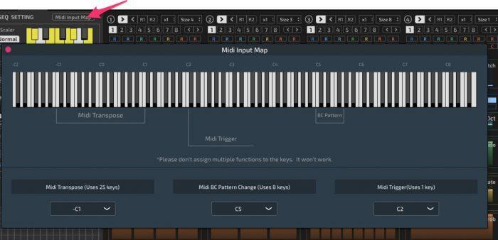 HY Plugins MIDI input map