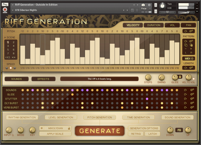 In Session Audio Riff Generation Outside In Edition