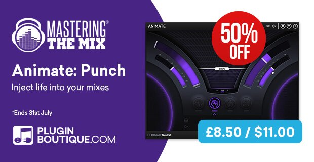 Get 50% OFF Mastering The Mix's Animate: Punch transient