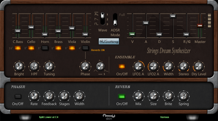 NUSofting Strings Dream Synthesizer 2.0