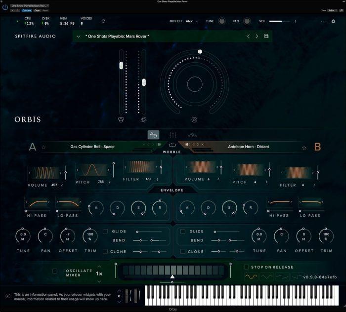 Spitfire Audio Orbis GUI