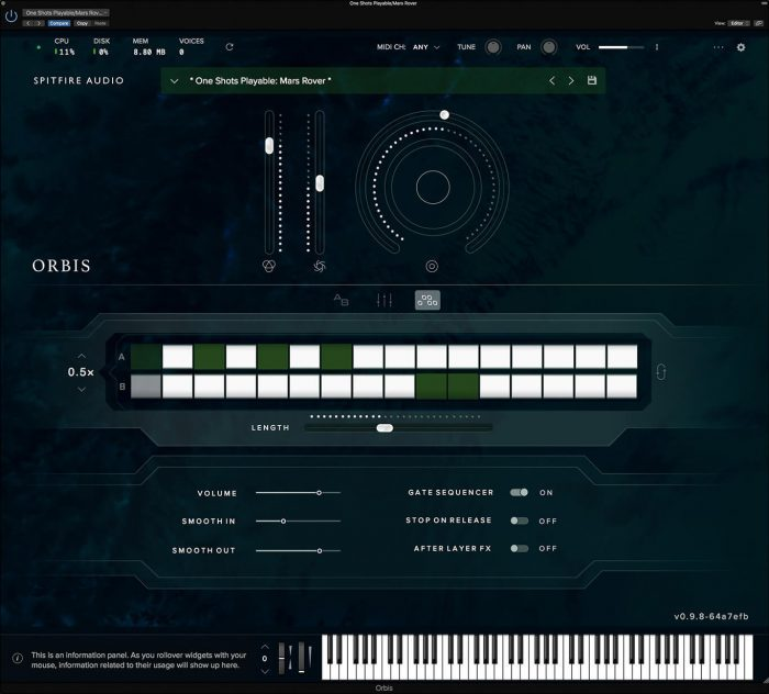 Spitfire Audio Orbis Sequencer GUI