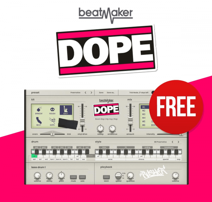 UJAM's Beatmaker DOPE virtual instrument is FREE with any