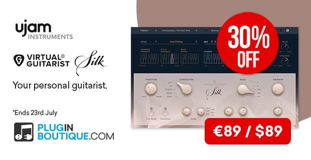 UJAM's Virtual Guitarist Silk plugin is on sale for $89 USD