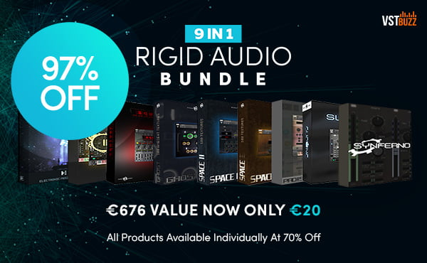 Save 97% on Rigid Audio Bundle, 9 Kontakt instruments for 20