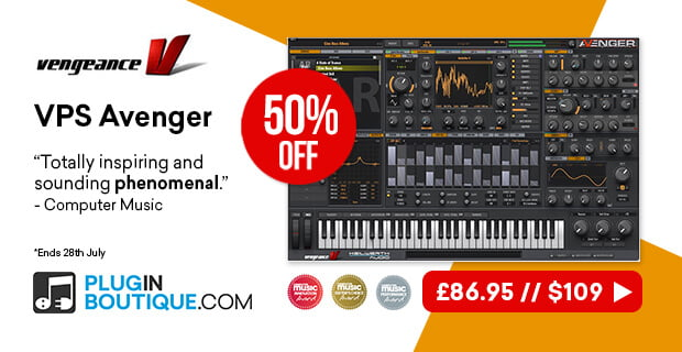 Vengeance 10th anniversary: Get 50% OFF VPS Avenger synth & other