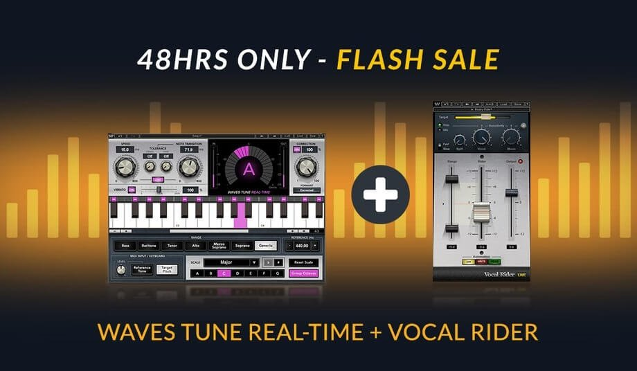 Get Waves Tune Real-Time + Vocal Rider for $69 USD for 48