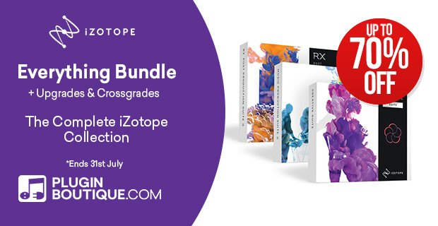 iZotope Everything Bundle Sale 70 OFF