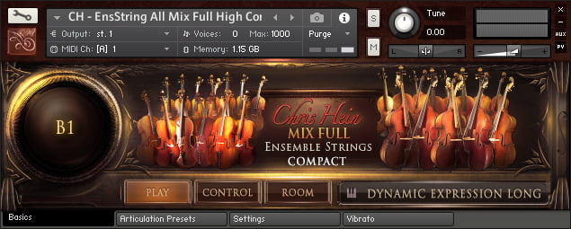 Chris Hein Strings Compact GUI 1