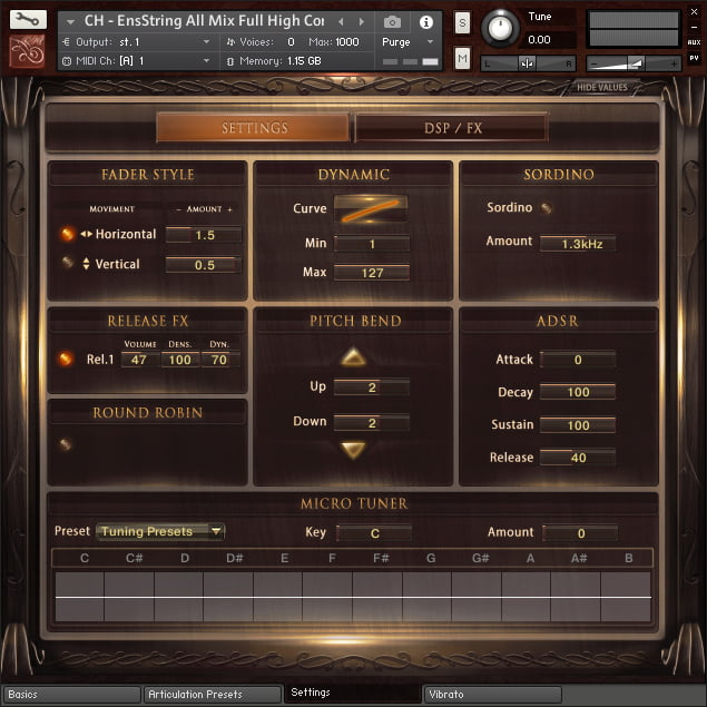 Chris Hein Strings Compact GUI 2