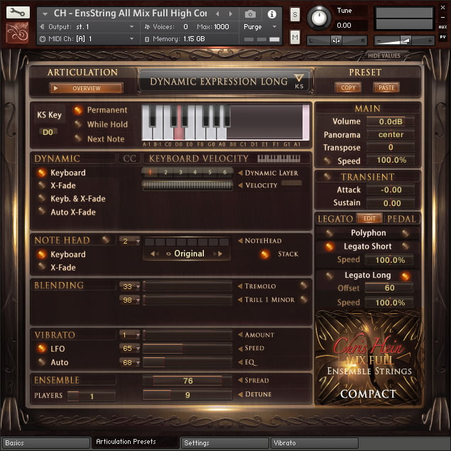 Chris Hein Strings Compact GUI 3