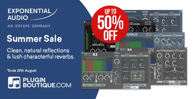 Exponential Audio Summer Sale: Up to 50% OFF reverb plugins