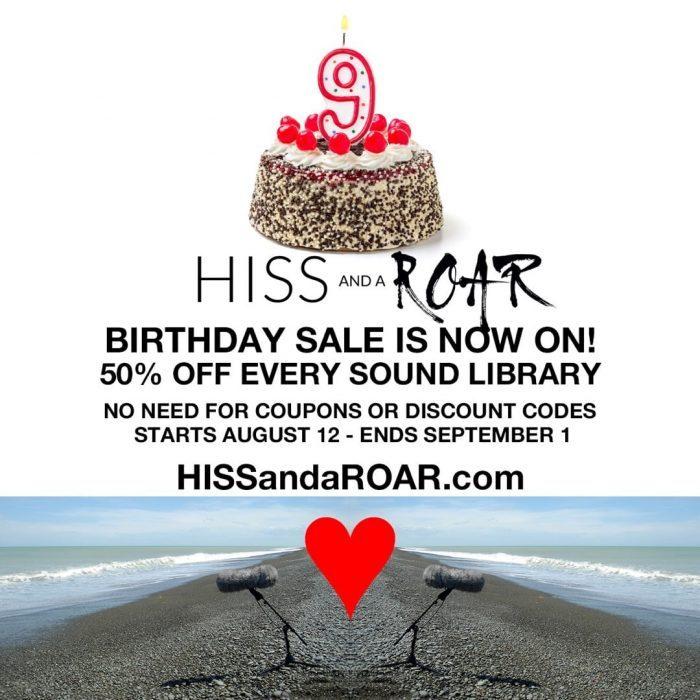 HISS and a ROAR 9th Birthday Sale
