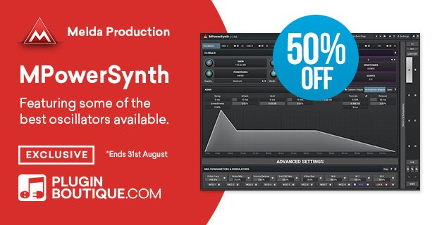 Meldaproduction MPowerSynth 50 OFF
