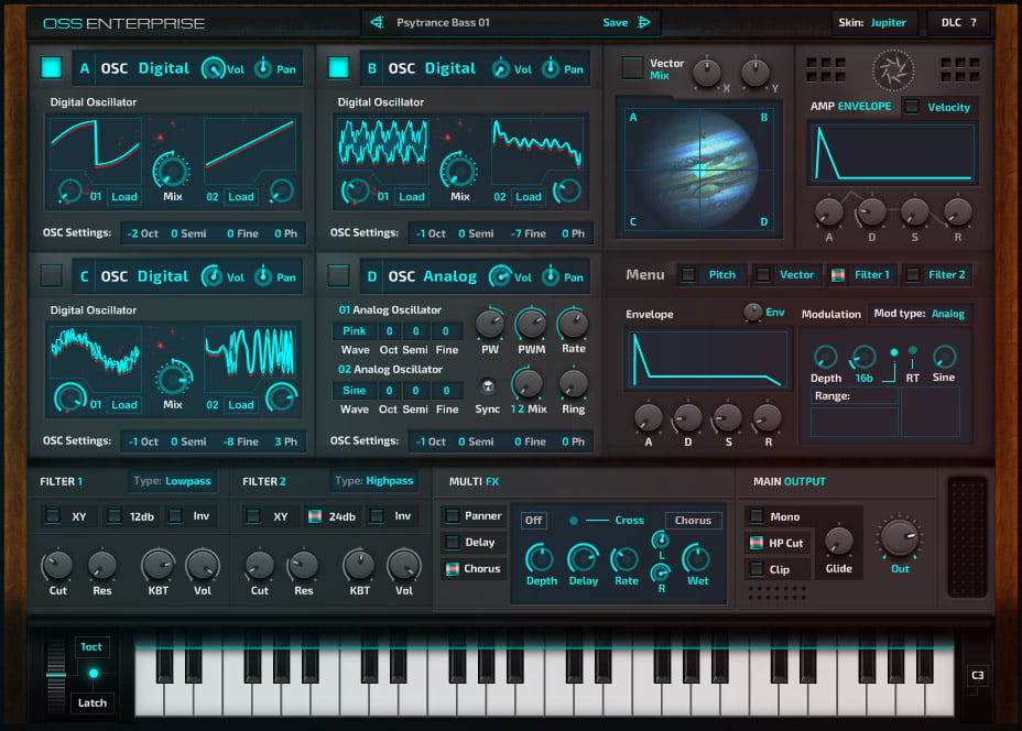 Ocean Swift releases O S S  Enterprise hybrid synthesizer plugin