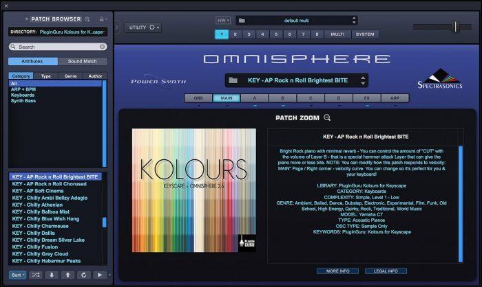 PlugInGuru Kolours for Keyscape Omnisphere