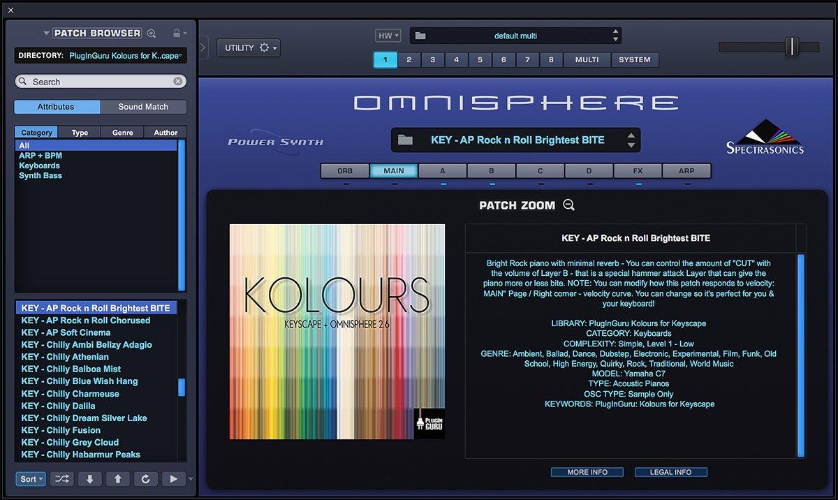 PlugInGuru releases Kolours sound library for Spectrasonics