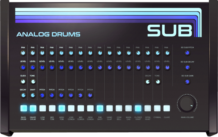Sampleson SUB Analog Drums free instrument